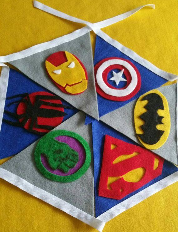 superhero bunting comic book bunting comic book by FlutterbyBazaar