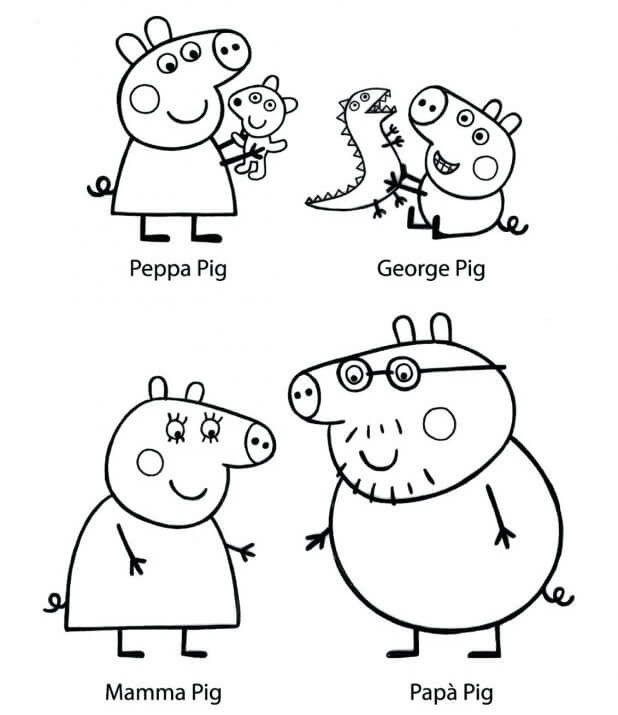 Printable Peppa Pig Coloring Pages   Для дітей