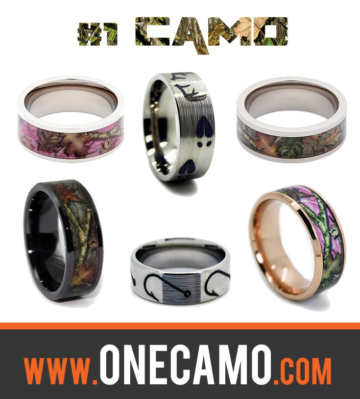 Check out our amazing collection of Camo Bands, Animal Rings, His and Her Wedding Rings, Camouflage Gear and more at 1camo.com -- Camo Wedding Rings by #1CAMO