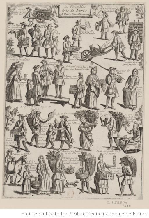 Les véritables cris de Paris : 1701-1788