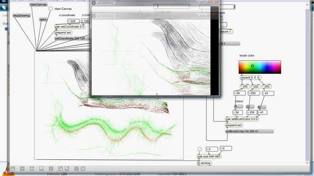 Harmony Drawing App in Max/MSP/Jitter