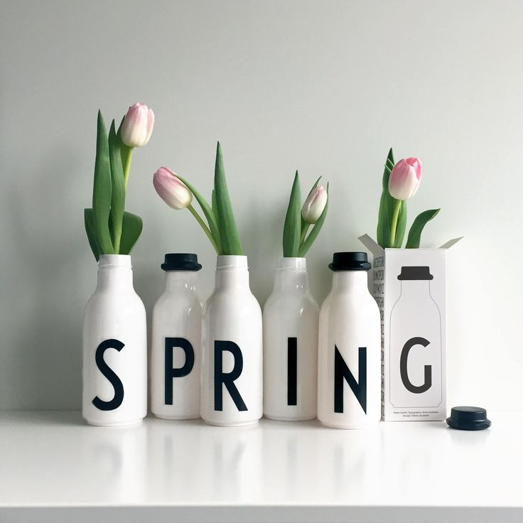 water bottles, Design Letters, spring