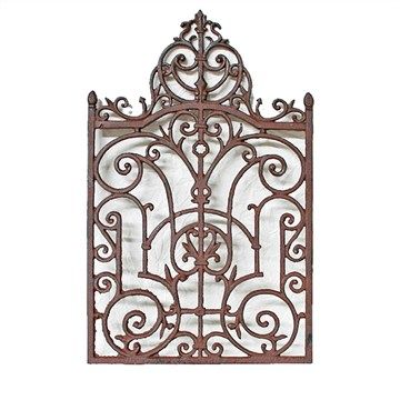 Harlow Cast Iron Wall Decor - Antique Rust