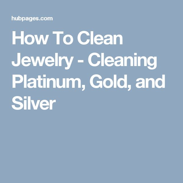how to clean platinum jewelry