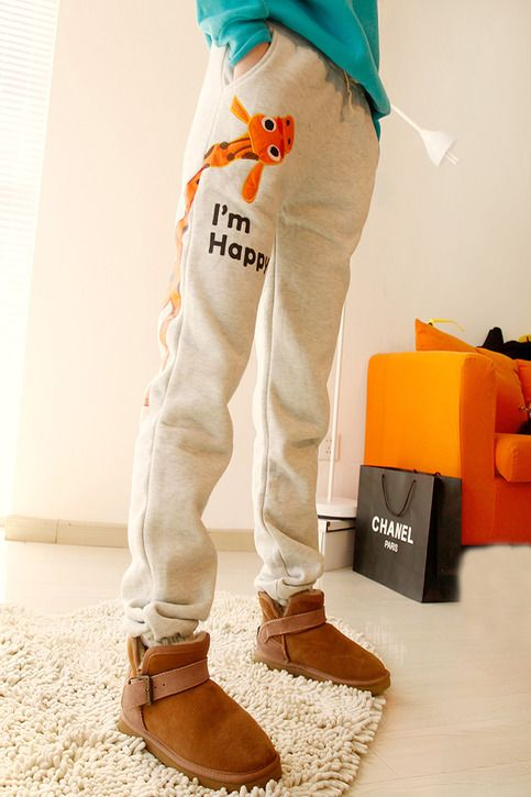 New autumn giraffe leisure pants sport pants slacks $25.99