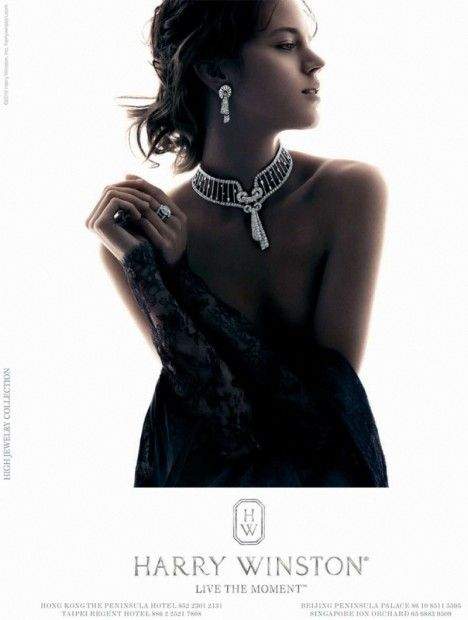 Freja Beha Erichsen for Harry Winston Jewelry 2012 Ad Campaign