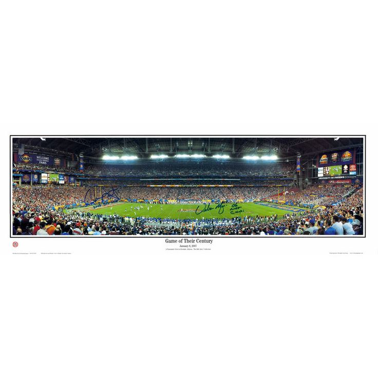 "Urban Meyer, Chris Leak Florida Gators Fanatics Authentic Autographed 14"" x 40"" Game of Their Century Stadium Panoramic with Multiple Inscriptions"