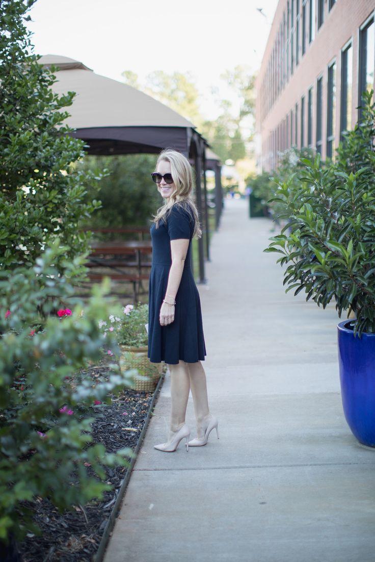 Draper James Fleurette Black Sweater Dress by North Carolina fashion blogger Every Chic Way