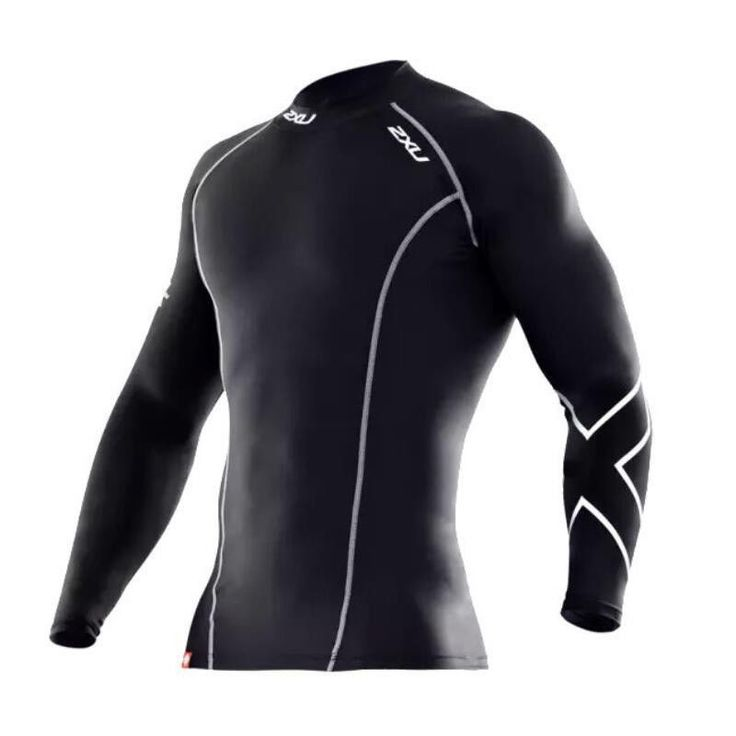 Men Compression Tights Clothes Long-Sleeved T-shirt Breathable Elastic Cycling  #MenCompressionChina #Casual