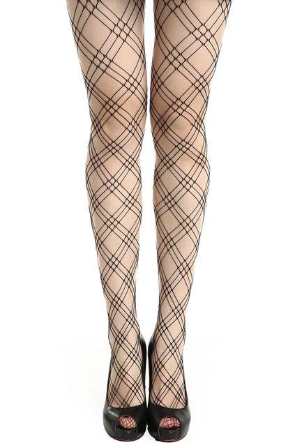 ROMWE | Net Pattern Nude Tights, The Latest Street Fashion