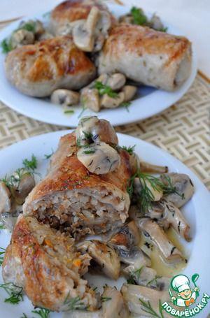 балканские фунтики(фаршированная куриная шкурка)