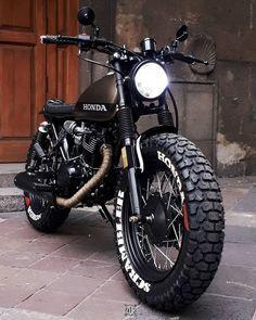 @zdrcustom – Honda 125 SCRAMBLER #honda #custom #fartire #scrambler #instamoto