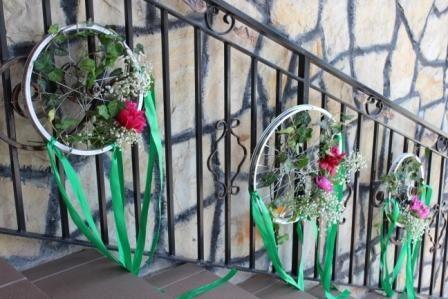 Aranajamente florale pe bicicleta
