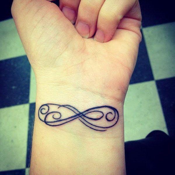 Double Infinity Tattoo Designs on Wrist.