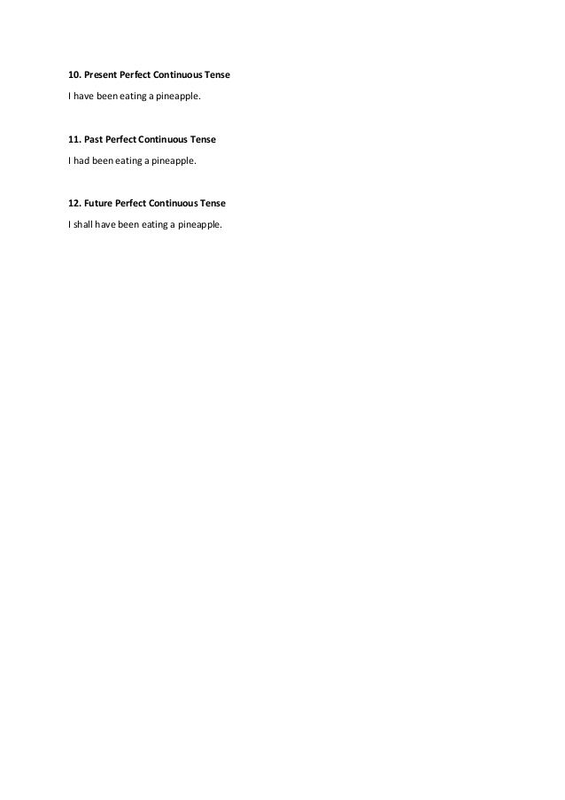 12 verb tenses in English grammar with examples 12 English tenses PDF