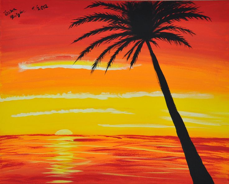 simple painting - Google Search | Paintings | Pinterest ... Easy Beach Sunset Paintings