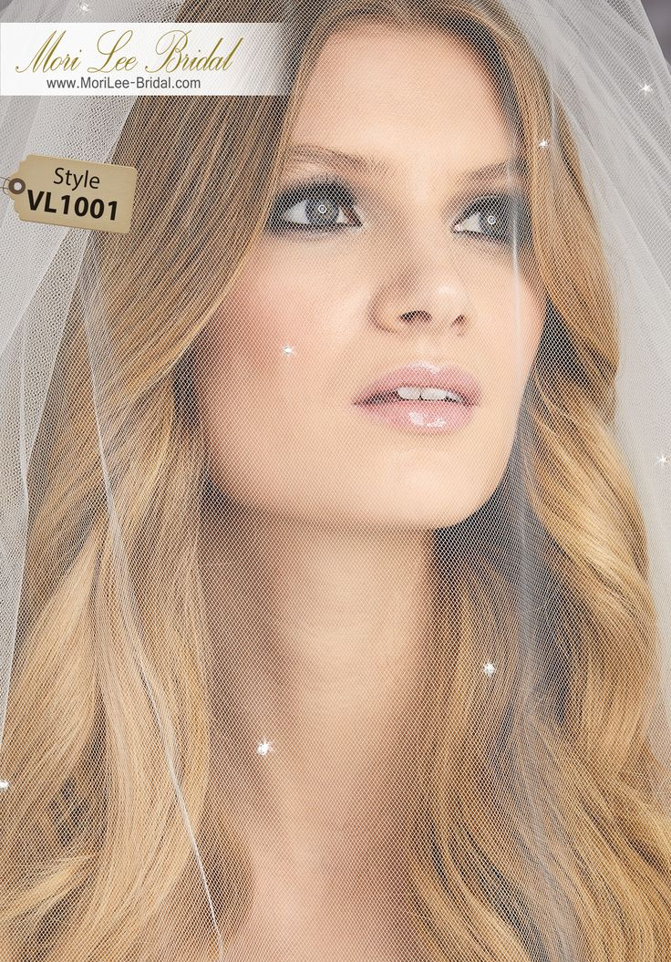 Style VL1001Circular Veil With Scattered Rhinestones, Front and BackAvailable in Fingertip Length (VL1001F) Shown, or Cathedral Length (VL1001C). Colors: White, Ivory, Gold.