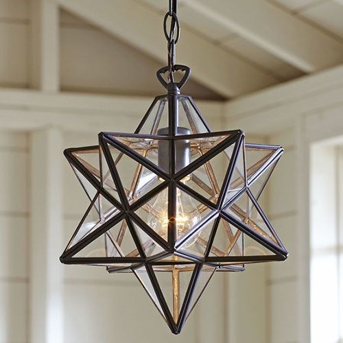 Abstract Glass Pendant Lamp Star Chandelier Ceiling Light Fixture Home Lighting…