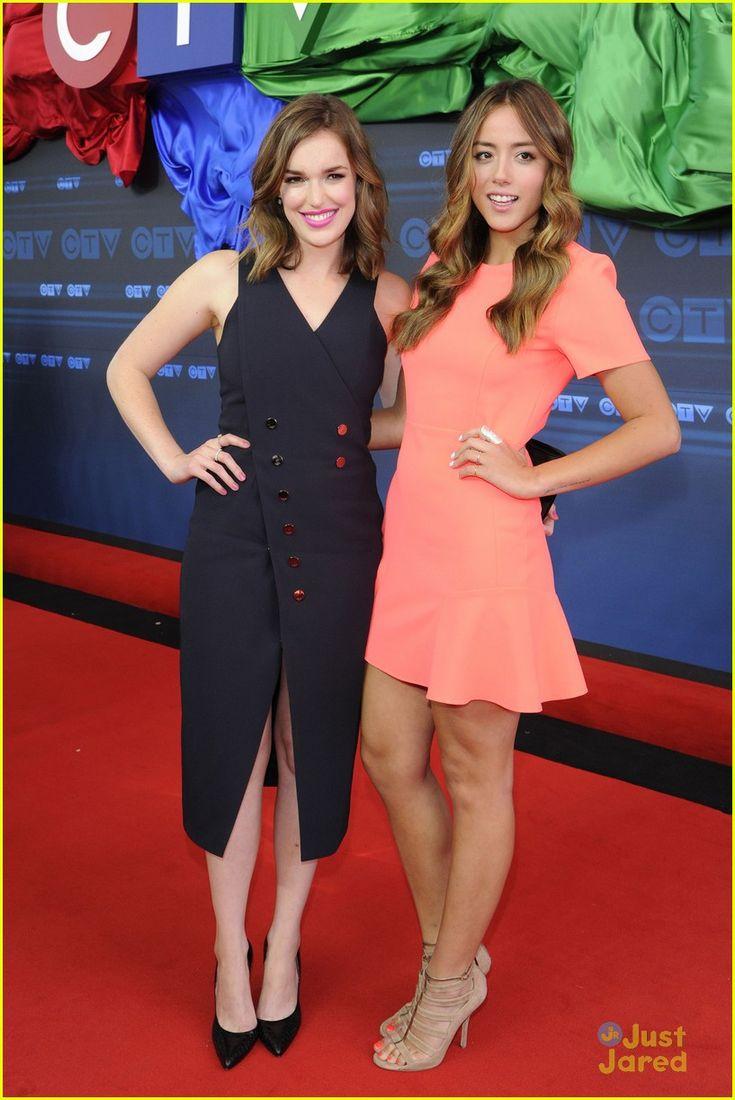 Chloe Bennett and Elizabeth Henstridge at the CTV Upfront 2014 party!