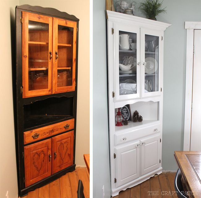 Awesome corner hutch furniture makeover plus the two biggest mistakes you can make when painting furniture.