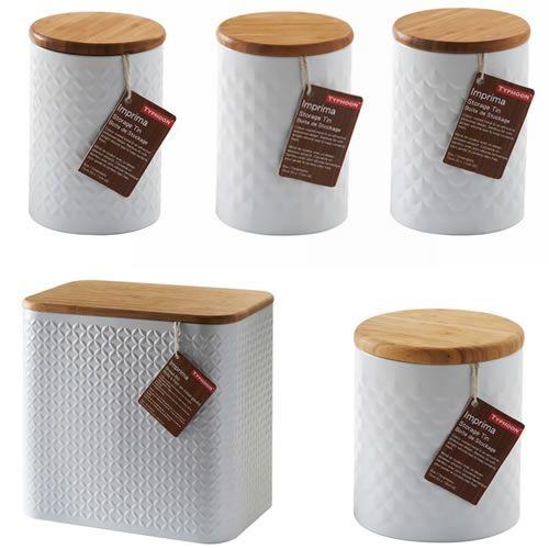 Buy Typhoon Imprima Embossed 5 piece set - Tea, Coffee, Sugar, Large Canister & Bread Bin