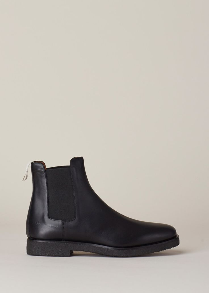 Woman By Common Projects Chelsea Boot In Leather Black
