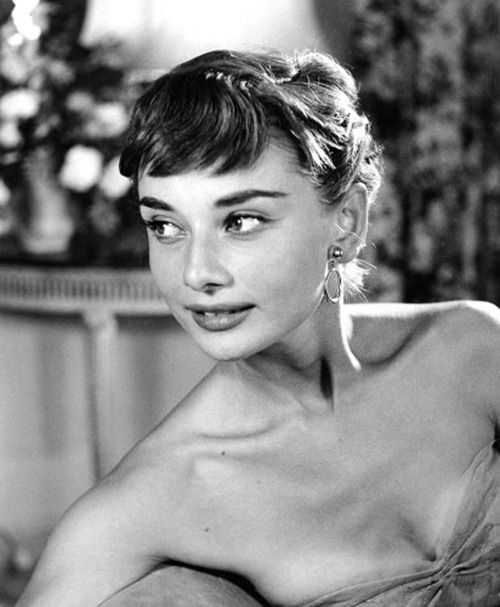 """"""" Audrey Hepburn photographed before attending a benefit premiere of Roman Holiday. September 14, 1953. """""""