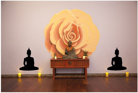 Buddha Silhouette Removable Wall Decal Perfect by MHDesignWorks, $19.99
