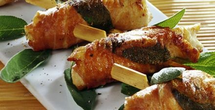 Recept van Kalkoen met salie en ham
