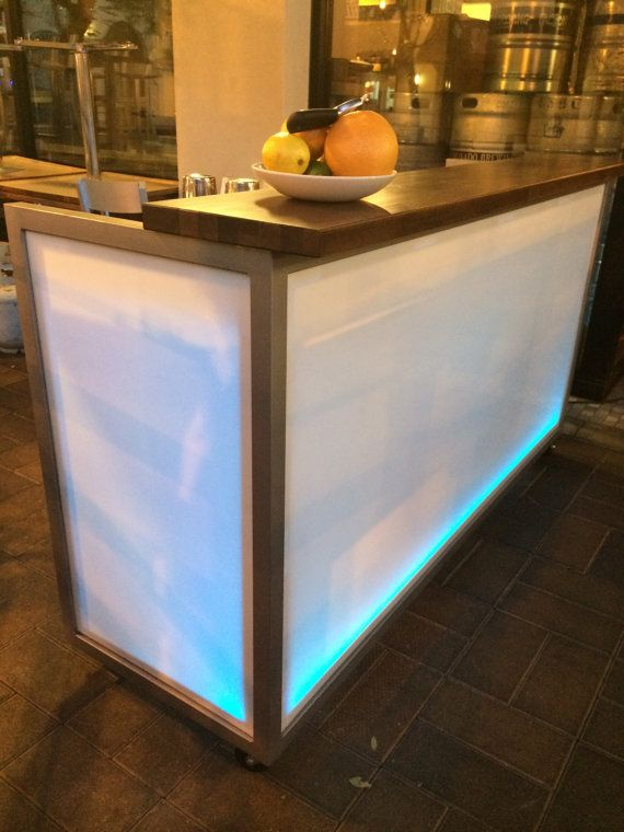 LED Portable Bar by RaiseTheBarOC on Etsy