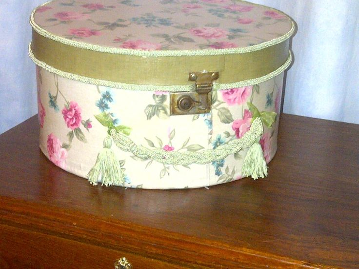 Done !! This old hat box is 81 years old, my Granny bought it in 1933. By Elmarie Swart.