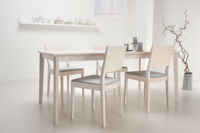 Serene 'Sinulle'  table and chairs. Designed by Erkki Tsupukka, Junet.