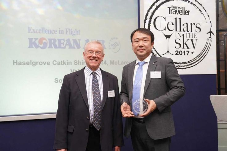 Korean Air has taken the top award in the 'Best Business Class Red' category in the 2017 Business Traveller 'Cellars in the Sky' airline wine awards. 'Cellars in the Sky', which celebrates the best first and business class wines served by airlines worldwide, announced the winners at a ceremony in London on February 20th. Korean Air received the gold medal in the 'Best Business Class Red Wine' category for serving Haselgrove Catkin Shiraz 2014 in its Prestige Class (Business Class).