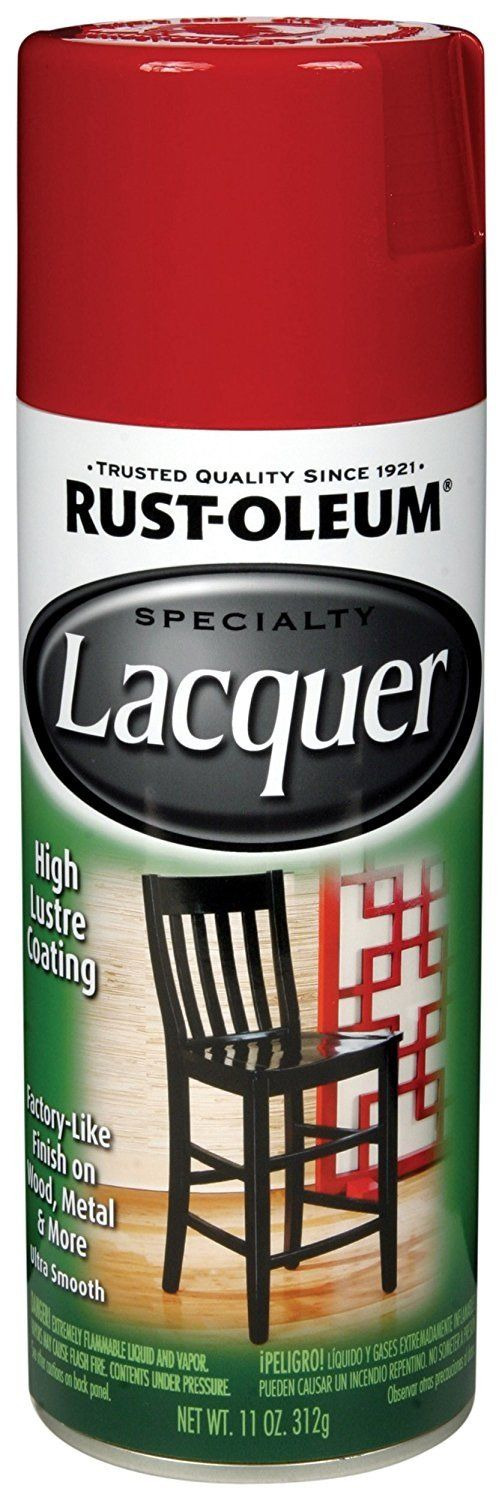 Rust-Oleum 243826 Lacquer Spray Paint, Chinese Red, 11 Oz