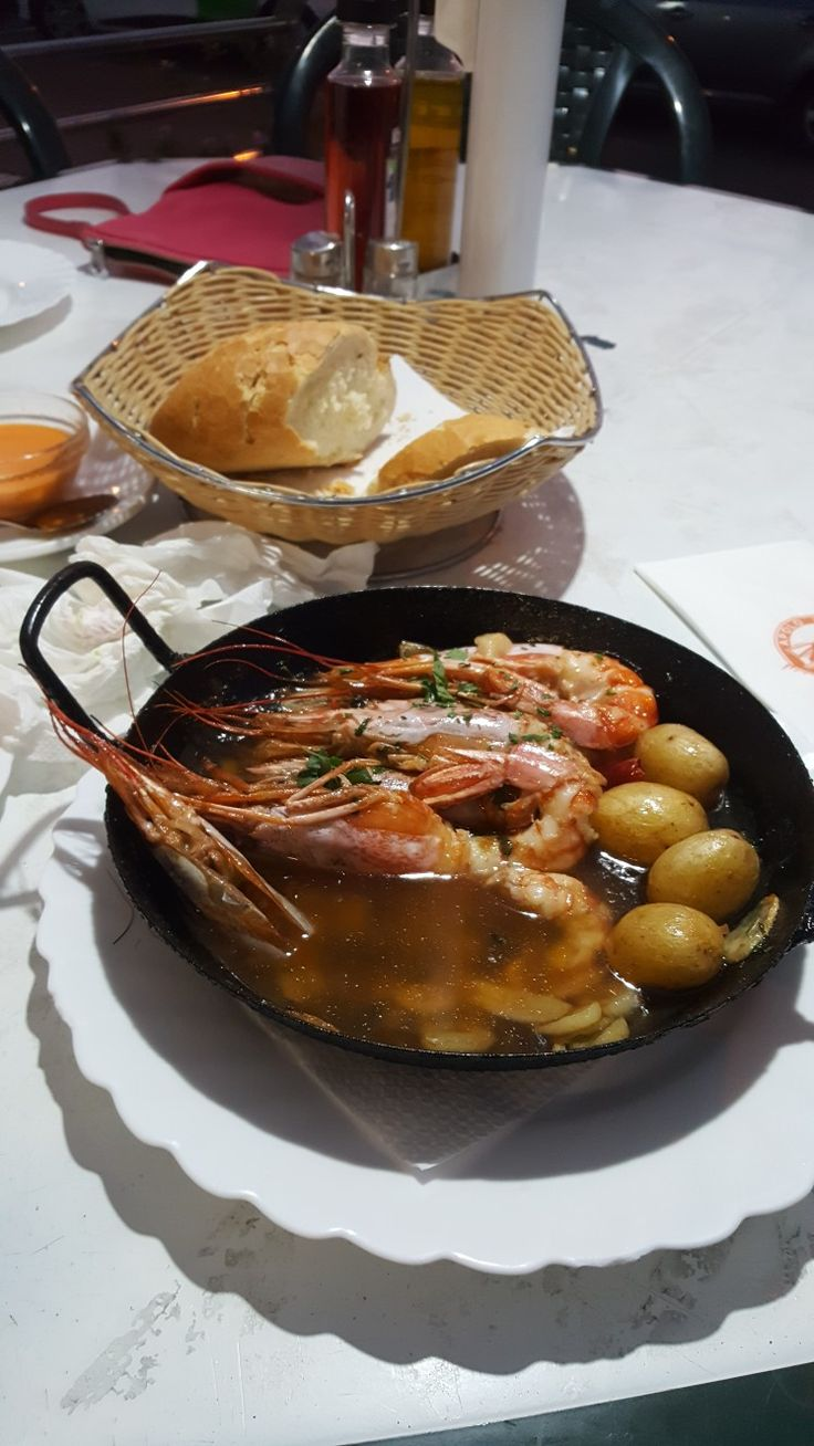 Prawns at apolo restaurant    Arguineguin gran canaria