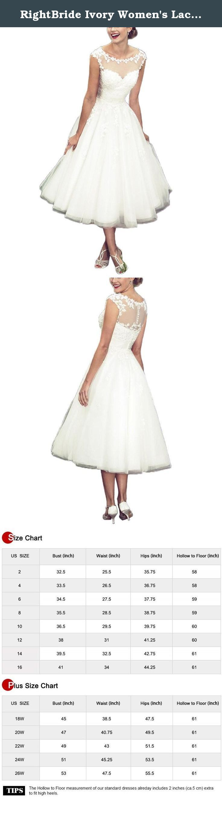 RightBride Ivory Women's Lace Country Western Short Beach Wedding Dresses for Bride 2017 (22W). RightBride Ivory Women's Lace Country Western Short Beach Wedding Dresses for Bride 2017 (22W) RightBride, Just as the store name indicates, is always dedicated to be the Right online shop on Amazon for wedding dresses for bride, So quality is our first priority. 1.With high quality fabrics, beads, pearls, crystals and threads, RightBride are always producing wedding dresses for bride and women...
