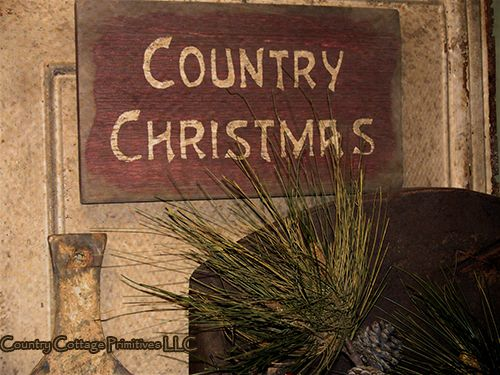 Country Christmas Primitive Sign