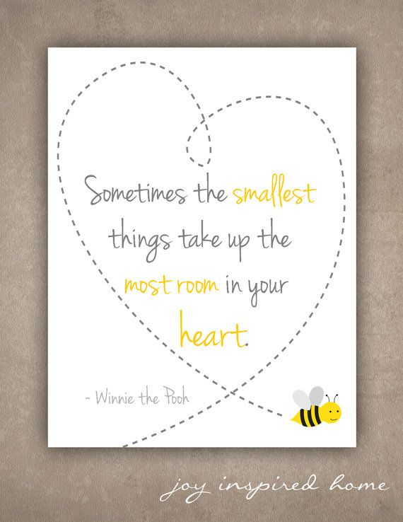 Instant download/Printable art/Winnie the Pooh/the smallest things/nursery decor/baby