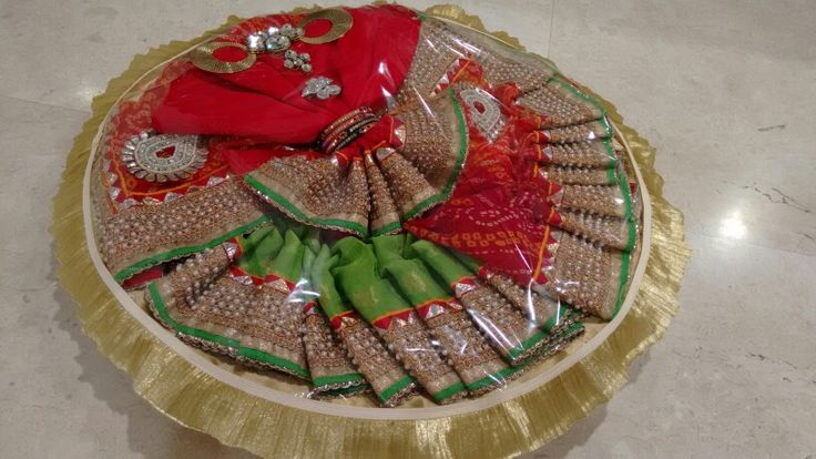Vrishti Creations -Saree packing tray 9669207565 , 9826116090