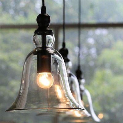 Vintage Industrial Pendant Light Ceiling Lamp Glass Lamp Shade Light Fixture New