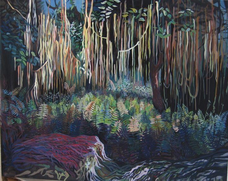 `Heart of darkness´ 120cmx150cm, 2011 acrylic on canvas . Katharina Zahl