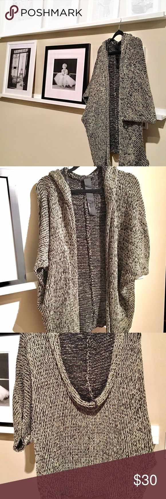 Joes jeans  hooded metallic sweater cardigan JOES  jeans  Hooded metallic hoodie sweater cardigan  loose baggy fit Joes jeans Tops