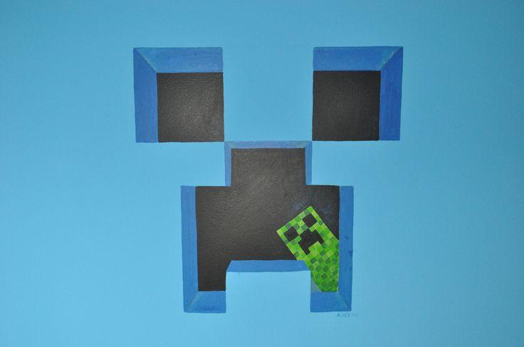 Mural Minecraft the Creeper by Andrea Haandrikman