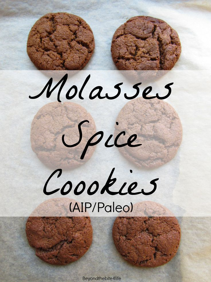 Anti-Grain Squash & Sweet Potato Flour Molasses Spice Cookies (Coconut free, AIP/Paleo)