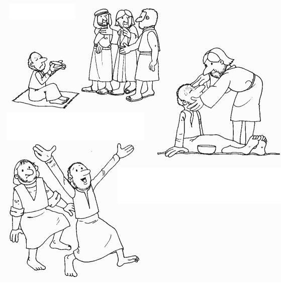 blind bartimaeus coloring pages - photo#11