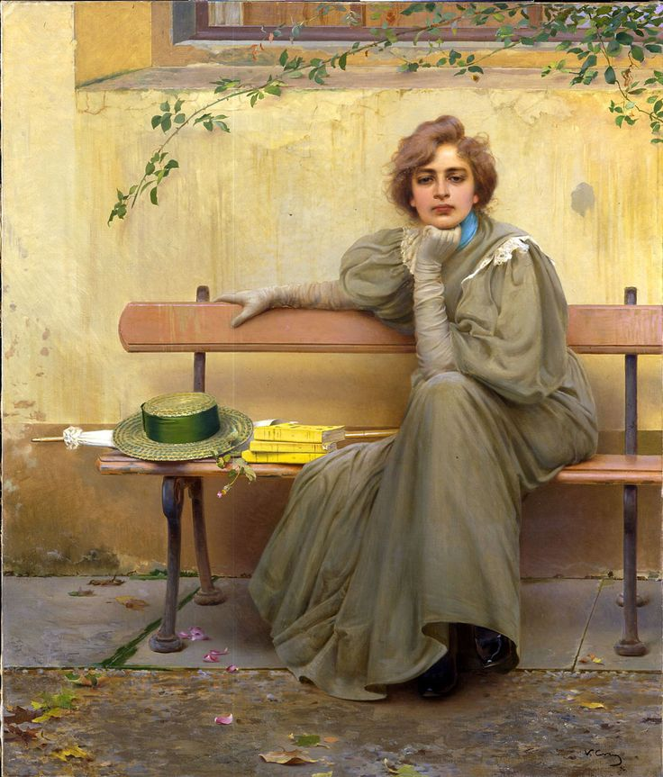 Sogni, 1896. Vittorio Matteo Corcos (Italian, 1859-1933).