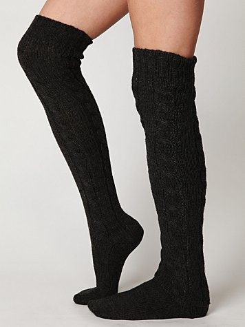 Free People Classic Cable Tall Sock $28.00