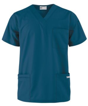 UA Best Buy Scrubs Men's 5 Pocket V-Neck Scrub Top   With a v-neck styling and signature soft fabric from our Best Buy collection, this men's scrub top makes an essential addition to any medical professional's wardrobe.  Style # 705 #uniformadvantage #uascrubs #adayinscrubs #blue #carribean #scrubs #nurse #nursingscrubs