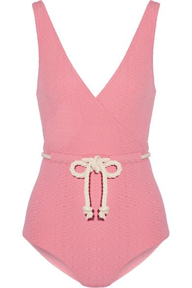 Lisa Marie Fernandez - Yasmin Seersucker Swimsuit - Pink - 4