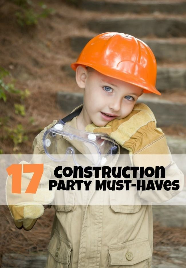 Construction Themed Birthday Party Supplies www.spaceshipsandlaserbeams.com